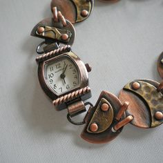 copper riveted watchband