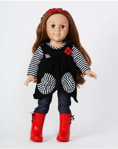 """""""Hanging Out"""" Dollie - 18 inch Play Doll (Light/Auburn) - Dollie and Me"""