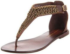 Chinese Laundry Women's Shocking Thong Sandal,Brown,6.5 M US * Click on the image for additional details.