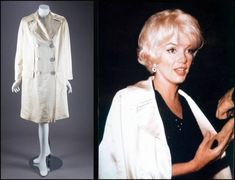 This ivory satin evening jacket belonging to Marilyn Monroe is double-breasted, with oversize mother-of-pearl buttons. Marilyn Monroe Outfits, Marilyn Monroe Costume, Marilyn Monroe And Audrey Hepburn, Norma Jean Marilyn Monroe, Monroe Sweet, Angeles, Norma Jeane, Vintage Beauty, Old Hollywood