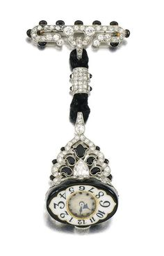 Enamel and diamond watch, Agassis, circa 1925
