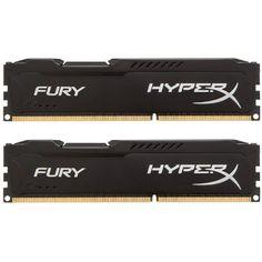 Kingston HyperX FURY 16GB Kit (2x8GB) 1866MHz DDR3 CL10 DIMM - Black (HX318C10FBK2/16) Kingston