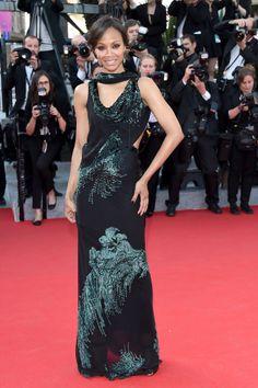 Zoe Saldana at the Mr. Turner premiere.