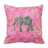 Pink Tribal Paisley Elephant Henna Pattern Throw Pillow Our Pink throw pillows are always on sale! To see current prices, click through to our website. Click on the pillow design of your choice. You will be taken to the designer's store. The discount code is listed at the top of the page. Happy shopping!