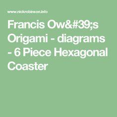 Francis Ow's Origami - diagrams - 6 Piece Hexagonal Coaster