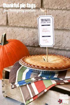 Thankful Pie Tags - Free Thanksgiving Printable