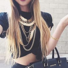 fashion, black, and girl afbeelding