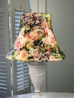 Bohemian Lamp Shade, Boho Lamp Shade, Floral Lamp Shade, Eclectic Lamp Shade, FREE SHIPPING - Continental USA