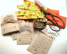 Save the seeds you harvest and keep them on hand so you never miss a planting season. Seed Wedding Favors, Vegan Soap, Seed Packets, Garden Seeds, Drying Herbs, Harvest, Herbalism, Planting, Gardening