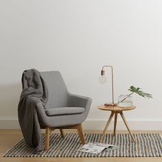 Mercer Mirage Grey Armchair by Zanui | Zanui