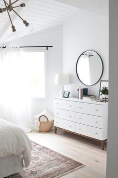 Awesome Deco Chambre Minimaliste that you must know, You?re in good company if you?re looking for Deco Chambre Minimaliste White Bedroom Design, White Bedroom Furniture, Home Decor Bedroom, Bedroom Ideas, Bedroom Designs, Bedroom Curtains, Bedroom Neutral, Dark Furniture, Bedroom Inspo