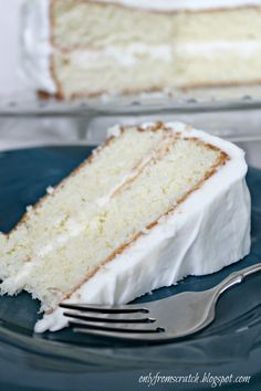 Just finished this and OMG is it good. Not dense and heavy. Very light, yummy!!!! Only From Scratch: Simple Layer Cake with Vanilla Frosting, from Martha Stewart