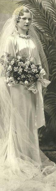 Vintage bride photo