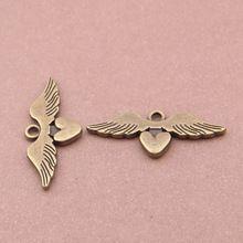 Сплав металл антикварный бронза крыло подвески-талисманы для ювелирные изделия ремесло своими руками 40 шт 23 x 20 мм YY2151(China (Mainland))
