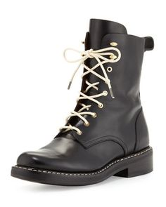 Rag & Bone Emil Combat Boots as seen on Heidi Klum Combat Boots Style, Biker Boots, Manolo Blahnik Heels, Designer Boots, Cool Boots, Smooth Leather, Black Leather, Star Fashion, Fashion Boots