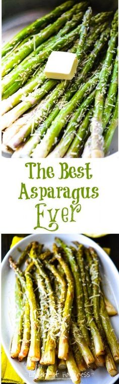 Best-Ever Lemon Parmesan Asparagus - This asparagus is quick, easy, and packed with flavor. *****Made in less than 10 minutes!*****