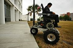 No Boundaries Off Road Wheelchair Kit - 10 Coolest Mechanical Custom-Built Wheelchairs - http://www.special-education-degree.net