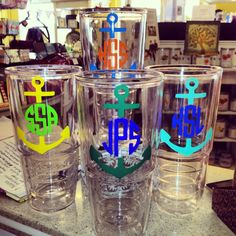 We LOVE the anchor on the tumblers! So cute!  www.facebook.com/thelemontreemilledgeville