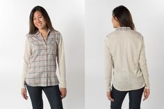Women's Flannel Shirt With Thumb Holes