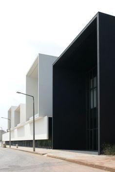 black white concrete