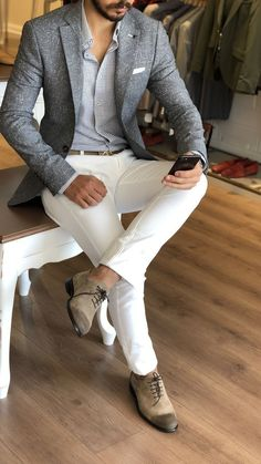 Speaking of style for men, suited men of mens formal look comes up first. But it's not just about men in suits classy, Blazer Outfits Men, Mens Fashion Blazer, Stylish Mens Outfits, Suit Fashion, Fashion Menswear, Casual Outfits, Mens Blazer Styles, Classy Mens Fashion, Mens Suits Style