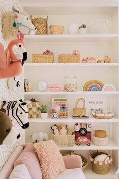 nursery shelf organization