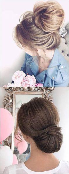 Long wedding updos and hairstyles from Elstile #weddings #weddingideas #hairstyles / http://www.deerpearlflowers.com/new-long-wedding-hairstyles-updos/4/ #weddingmakeup #longhairstyles