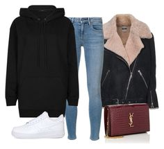 """Untitled #4256"" by ericacavaco12 ❤ liked on Polyvore featuring Acne Studios, Alexander Wang, AllSaints, NIKE and Yves Saint Laurent"