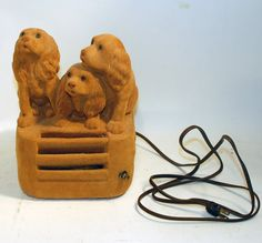 Hey, I found this really awesome Etsy listing at https://www.etsy.com/listing/176009549/vintage-honey-tan-brown-flocked-puppies