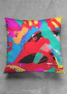pillow with vibrant colors #shopvida