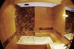 7 Fab Ideas for a Small Bathroom Makeover - shower/bath
