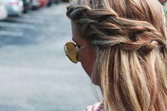Multiple waterfall twist braids. I like this.