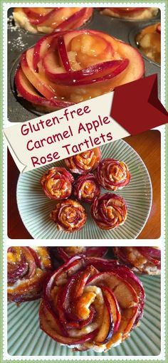 GF Apple Rose Tartlet  ::  via gluten free yummy   Need to swap out the dairy and corny xanthan gum.