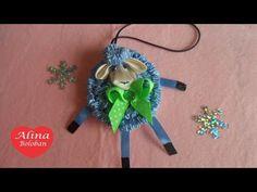 Овечка из Лент . Игрушка на Ёлку . Символ 2015. Sheep . Toys on a Christmas tree . Symbol 2015