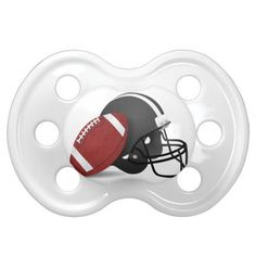 Football And Helmet Pacifier for the little Football fan ~ #Sports4you #Just4babies  at Zazzle #Gravityx9 --