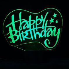 Happy Birthday sign 3D LED Lamp-GoAmiroo Store
