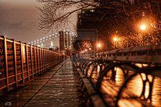 Brooklyn Bridge at night images | Brooklyn Promenade at night by carlosthomas