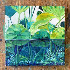 Plant Art, Zen Art, Botanical Art, Creative Art, Flower Art, Watercolor Art, Art Projects, Art Drawings, Illustrations