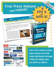 Pick me! Pick me!   PIN IT TO WIN IT! Awesome PR package -- FREE writing + FREE distribution on Online PR Media. Simply repin and leave a comment. We'll randomly choose the winner at 10pm EST tonight. Happy PINNING! http://www.onlineprnews.com