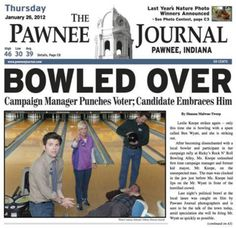 """""""The headline I would've gone with is 'No strike bowling bowler struck by Knope's striking beau.'"""""""