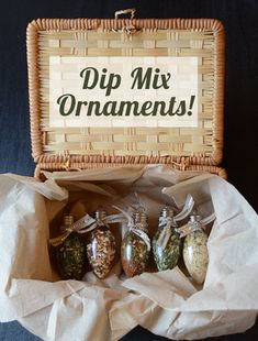 Dip Mix Ornaments | Although there are a lot of ideas for ornaments during the holiday season, this one will be one of the most memorable and delicious.