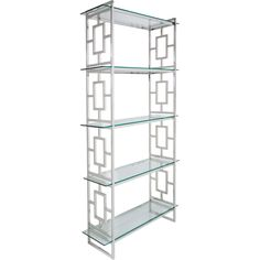 This étagère is a timeless evocation of architectural form and delicate detail. Crafted in stainless steel with bold geographic lines, each of the five glass shelves creates a platform for all your precious objets. Steel Bookshelf, Modern Bookshelf, Bookshelves, Bookcase, One Kings Lane, Steel Art, Furniture Deals, Dream Furniture, Furniture Outlet