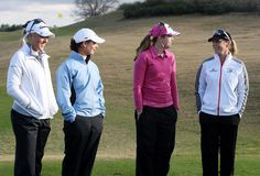 """Lorena Ochoa Natalie Gulbis Photos Photos - (L to R) Natalie Gulbis, Lorena Ochoa, Paula Creamer and Annika Sorenstam pause for the camera before teeing off during the Annika Celebration """"Skins Game"""" at the Ginn Reunion Resort on February 3, 2009 in Reunion, Florida.  (Photo by Doug Benc/Getty Images) * Local Caption * Annika Sorenstam;Lorena Ochoa;Paula Creamer;Natalie Gulbis - Annika Celebration """"Skins Game"""" at the Ginn Reunion Resort"""