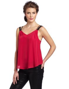 BCBGeneration Women's Strappy Tank Top  Red Ruby  X-SmallFrom #BCBGeneration Price: $68.00