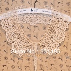 Online Shop Atacado Collar Lace Applique bege algodão Altered Clothin costura embelezando bordado 4.33 '' largura 5 pçs/lote Aliexpress Mobile