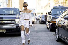 Wearing THP Anya Jeans (coming soon); JH Zane top, Stuart Weitzman Nudist Heels, Chanel bag