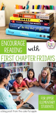 First Chapter Fridays Want to expose your students to a wider variety of books? Try First Chapter Fridays! Simply read aloud the first chapter of a novel and leave your students hanging. Their interest will be piqued and they'll want to read more! 5th Grade Reading, Student Reading, Teaching Reading, Guided Reading, Reading Logs, 5th Grade Books, Teaching Ideas, Middle School Reading, Teaching Tools