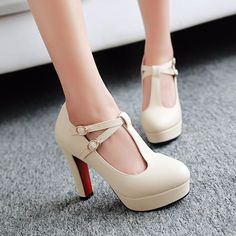 @@@best pricePlus size 34-43 T-Strap Women Pumps 2016 Brand Thick Heel High Heels Platform Shoes Woman White Wedding Shoes pink black heelsPlus size 34-43 T-Strap Women Pumps 2016 Brand Thick Heel High Heels Platform Shoes Woman White Wedding Shoes pink black heelsThis is great for...Cleck Hot Deals >>> http://id602349715.cloudns.ditchyourip.com/32737181052.html images