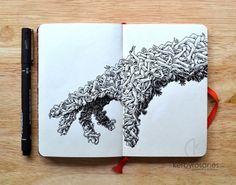 MOLESKINE DOODLES: Handmade by kerbyrosanes on DeviantArt