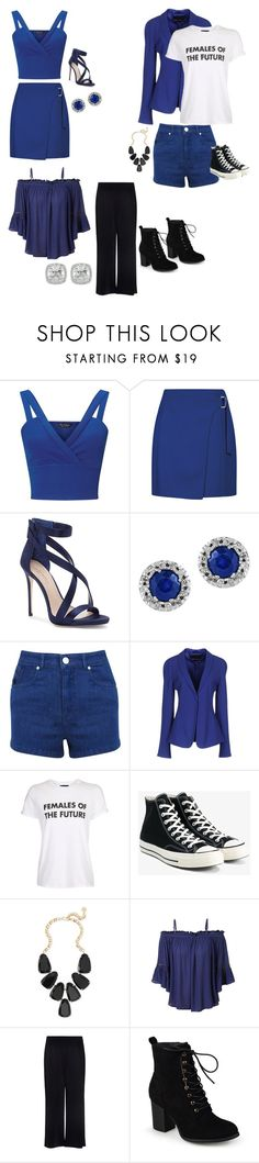 """""""Untitled #82"""" by nidha-h-mansoor on Polyvore featuring Miss Selfridge, Imagine by Vince Camuto, Effy Jewelry, Giorgio Armani, Topshop, Converse, Kendra Scott, LE3NO, A.L.C. and Journee Collection"""